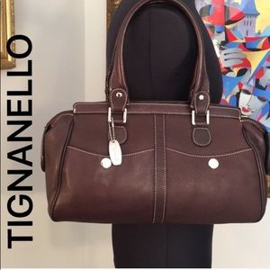 ⭐️TIGNANELLO ROOMY SHOULDER BAG 💯AUTHENTIC